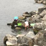 Le lavage du linge dans le lac