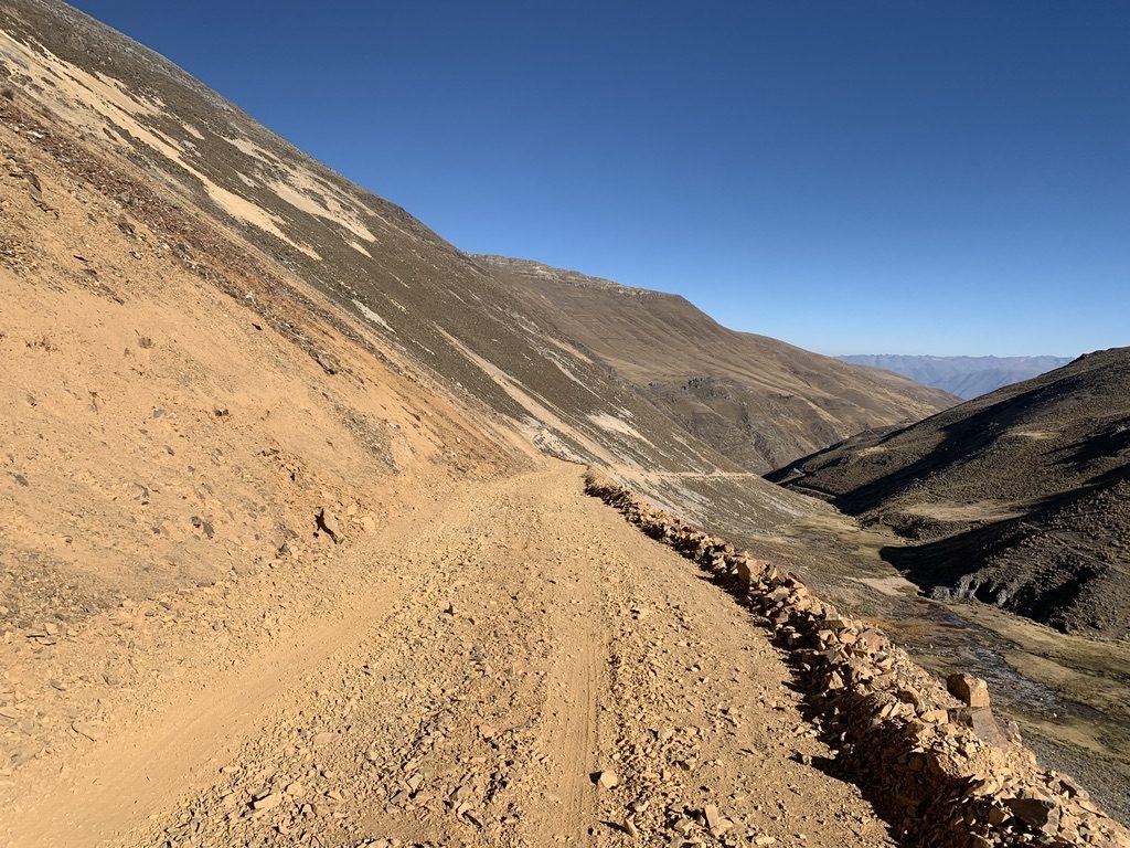 La route à 4800m