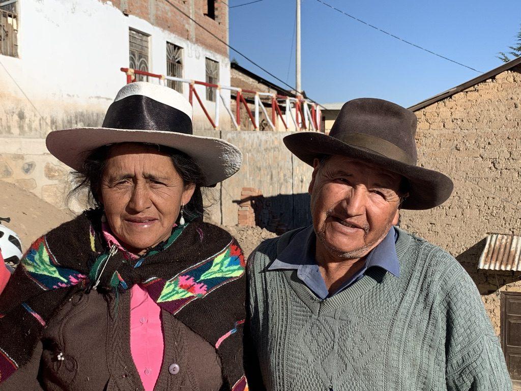 Maria et Herminio qui nous ont hébergé