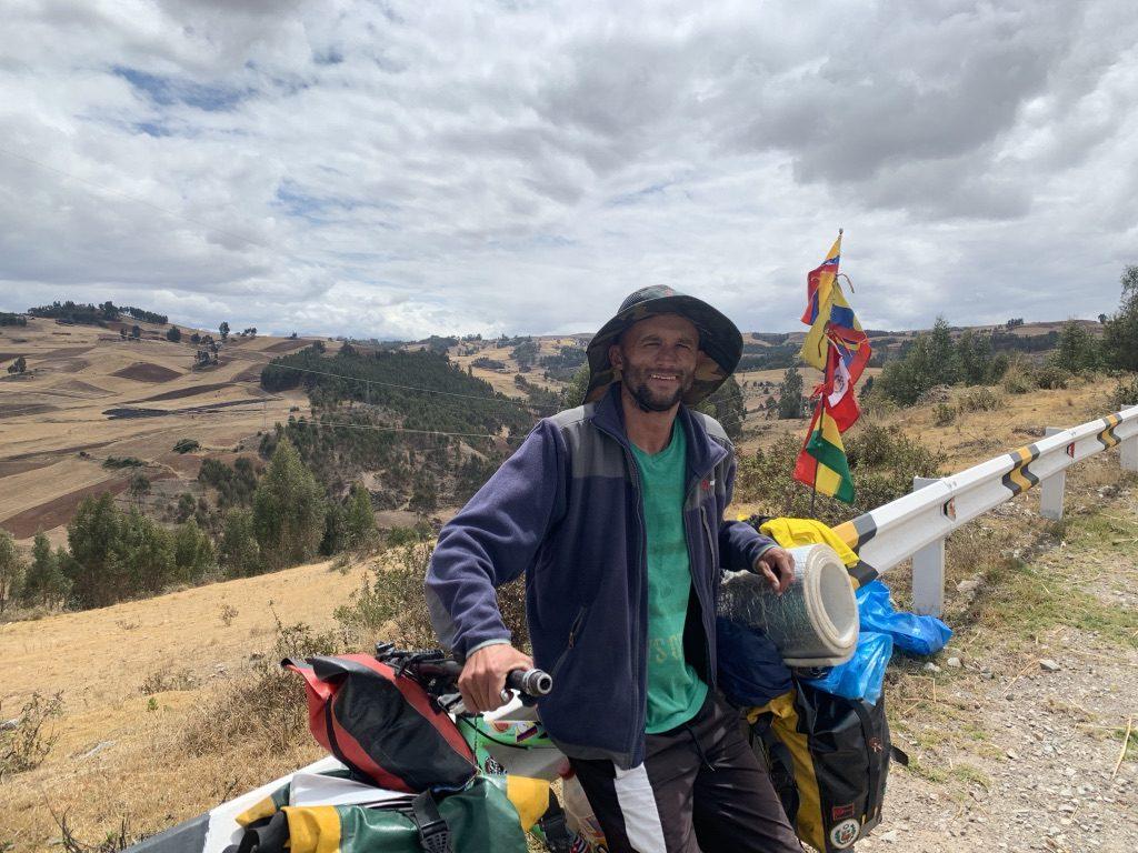 Juan Franco un colombien avec qui nous roulons depuis Cuzco