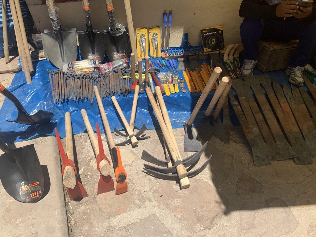 Stand d'outils au pérou