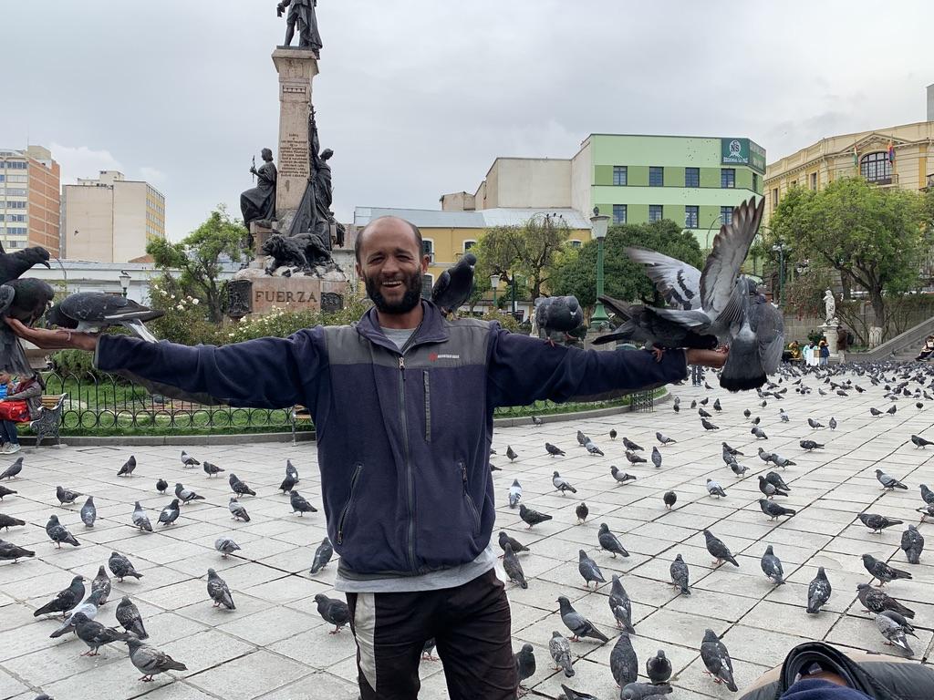 Juan Franco et les pigeons