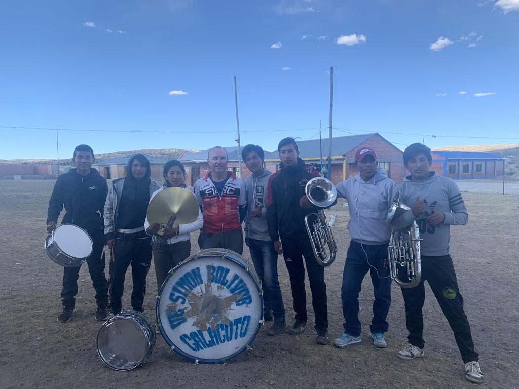 La banda de música nos da la bienvenida