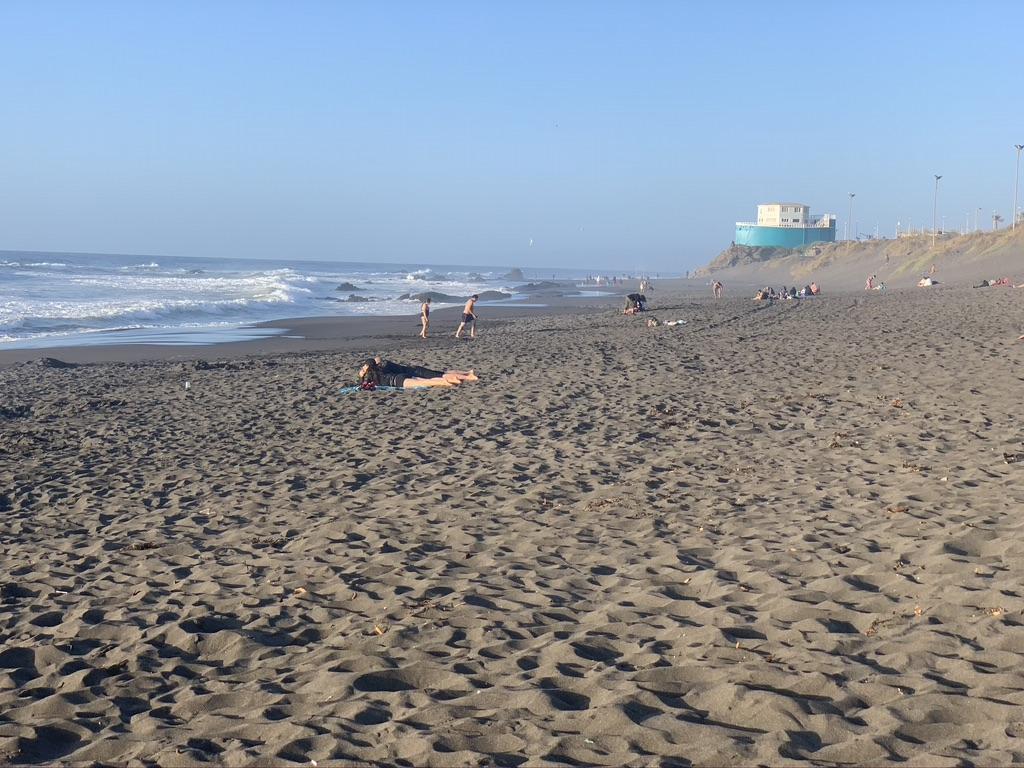 Pacifique et ses plages de sable noir