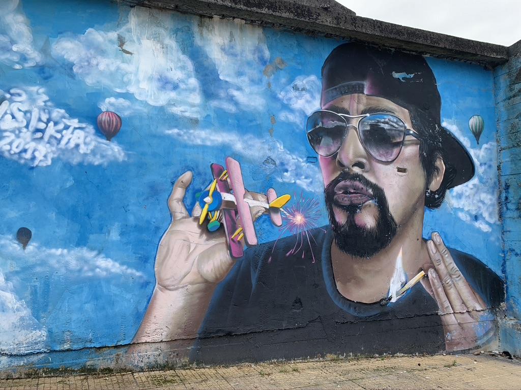Jolie peinture murale