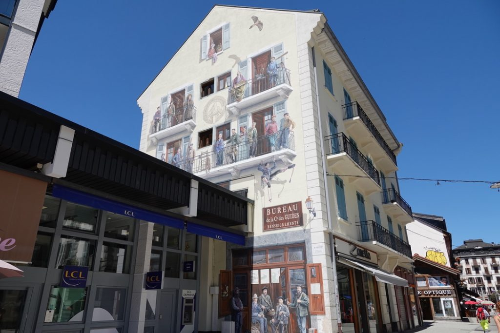 Peinture murale Chamonix