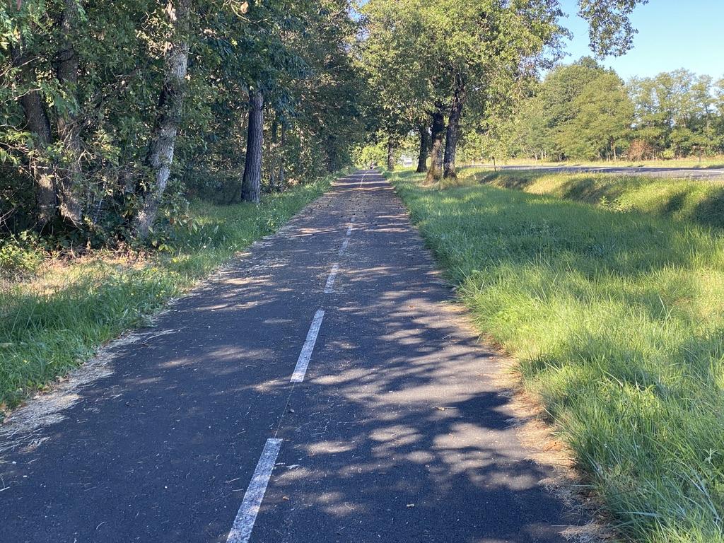 Une belle piste cyclable