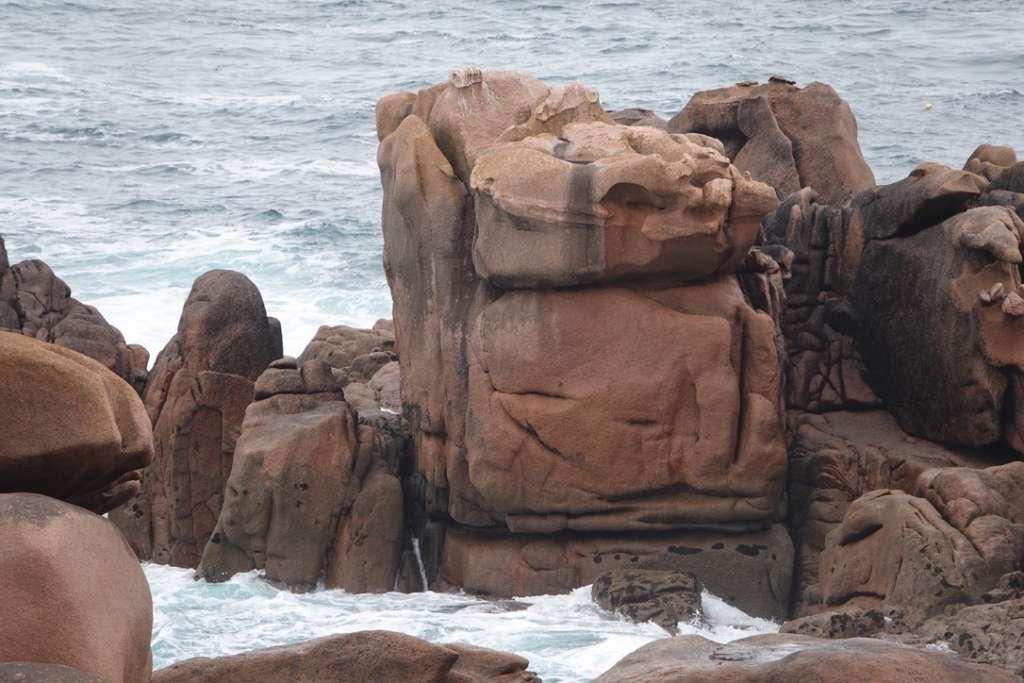 Une côte sculptée par la mer