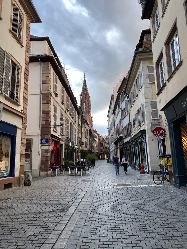 Rue du centre-ville de Strasbourg