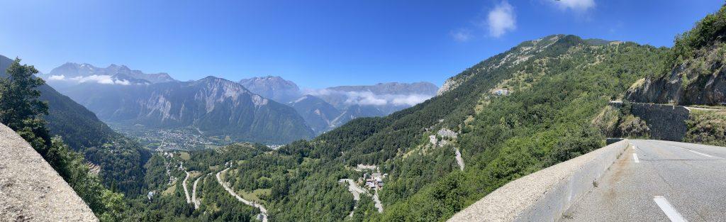 Les lacets de l'Alpe d'Huez