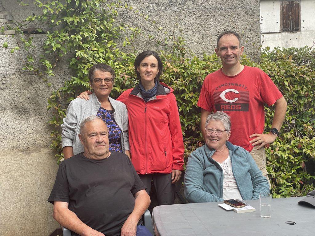 rencontre (de G à D) avec Michel, Anna, Arlette et Marcellin